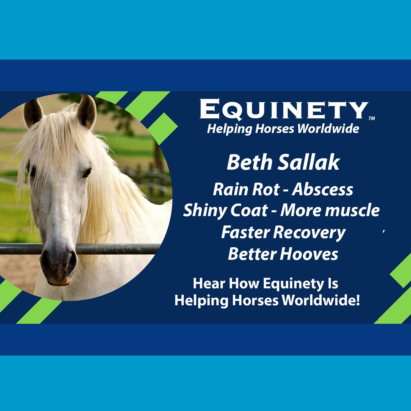 103 – Beth Sallak – 28 yrs old – Rain Rot – Abscess – Shiny Coat – More Muscle – Faster Healing – Better Hooves