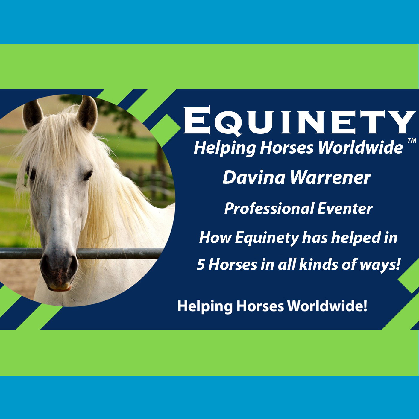 Davina Warrener – Professional Eventer – 5 Horses Amazing Stories using Equinety Horse XL