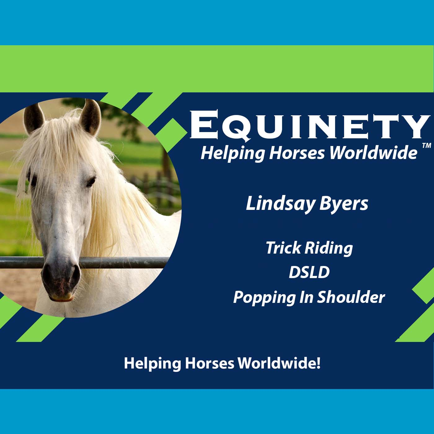 Lindsay Byers TX – Trick Riding – DSLD – Popping in Shoulder